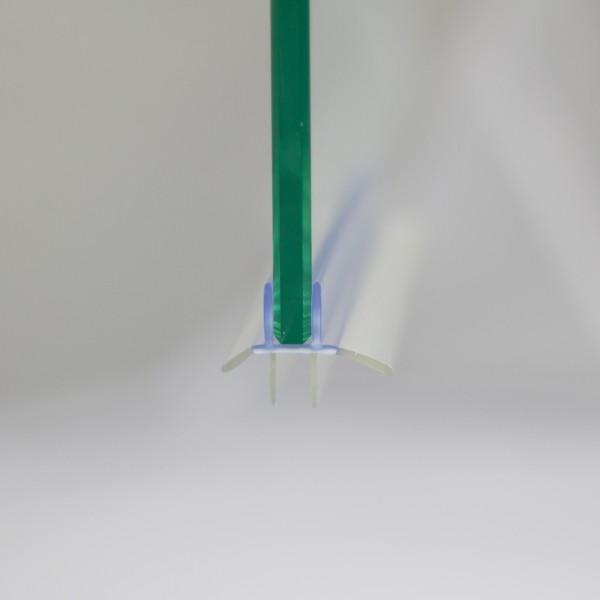 Wasserabweisprofil für 6 mm, Halbrunddusche