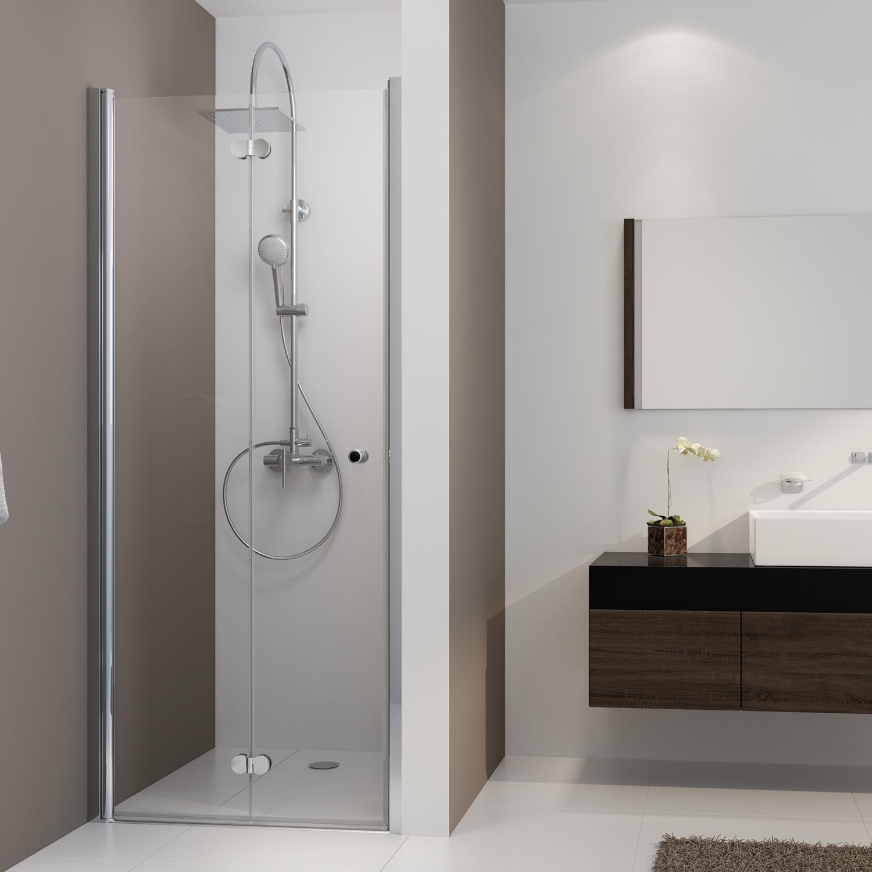 drehfaltt r f r nische anschlag links mk 500 duschkabinen produkte duschwelten. Black Bedroom Furniture Sets. Home Design Ideas