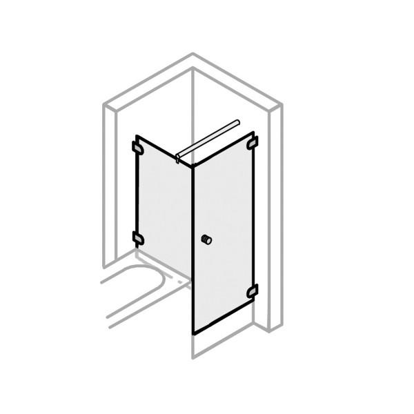 Drehtür mit BSW links Türöffnung nach innen & außen