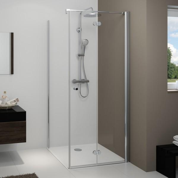 Drehfalttür für Seitenwand/ Badewannenseitenwand
