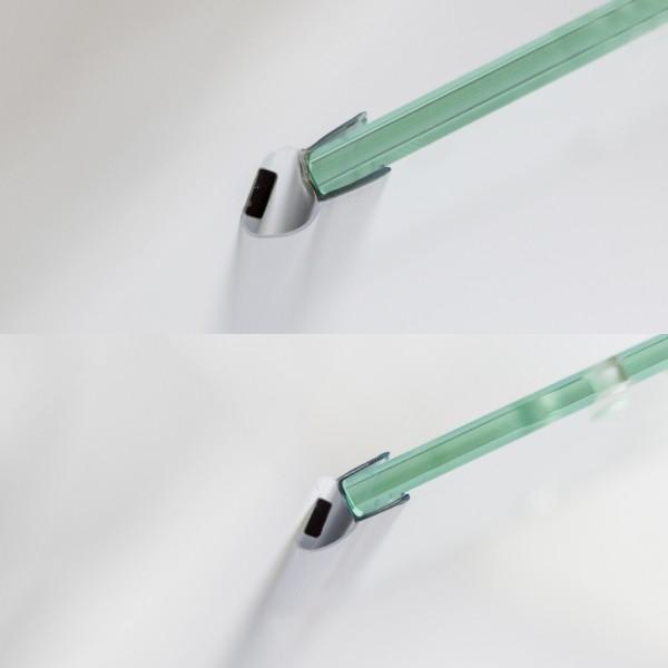 Magnetduschdichtungsset, Drehtür & Seitenwand