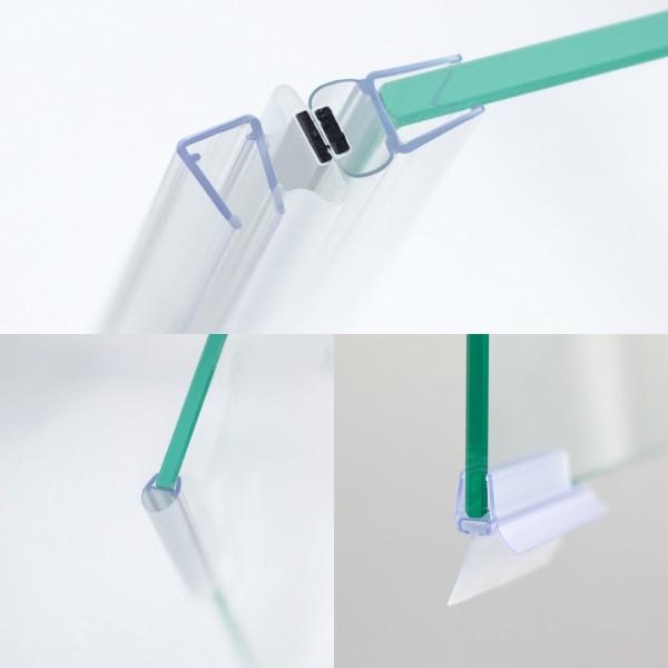 Dichtungssatz 8 mm, Drehtür mit Festteil & Seitenwand