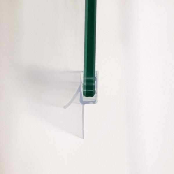 Wasserabweisprofil für 6 mm, bodengleicher Einbau