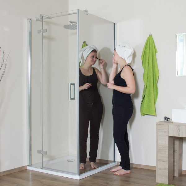 Drehtür für Seitenwand/ Badewannenseitenwand, Anschlag links