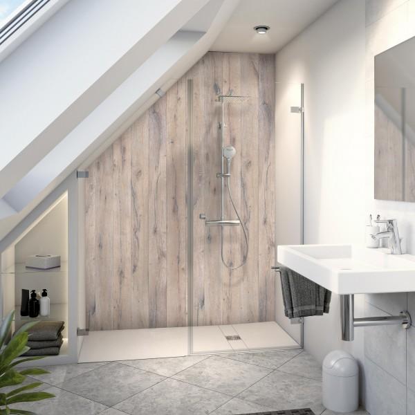 Duschrückwand: Holz-Optik Eiche Landhaus in MK930