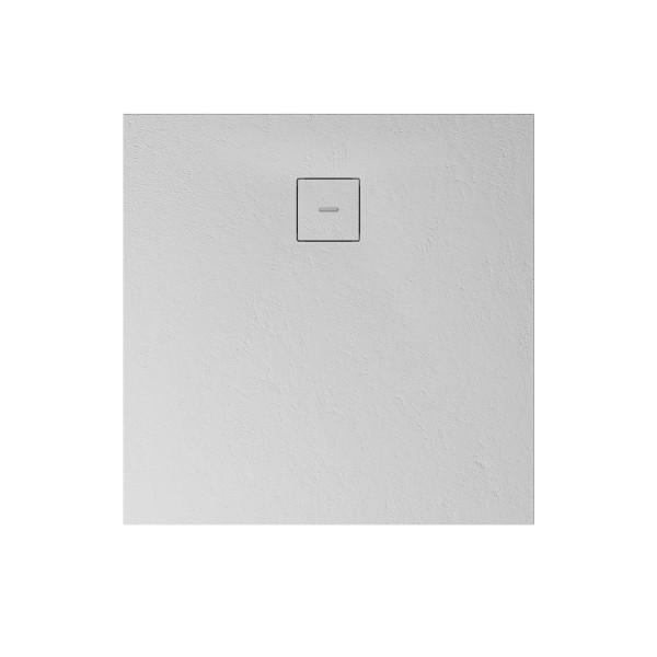 MK plan S: Quadratduschwanne Steinoptik, Weiß