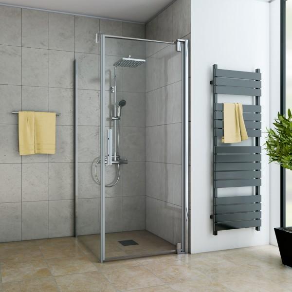 Drehtür für Seitenwand/ Badewannenseitenwand, Anschlag rechts