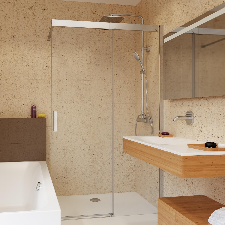 soft silent schiebet r walk in teilgerahmt anschlag rechts walk in duschkabinen. Black Bedroom Furniture Sets. Home Design Ideas