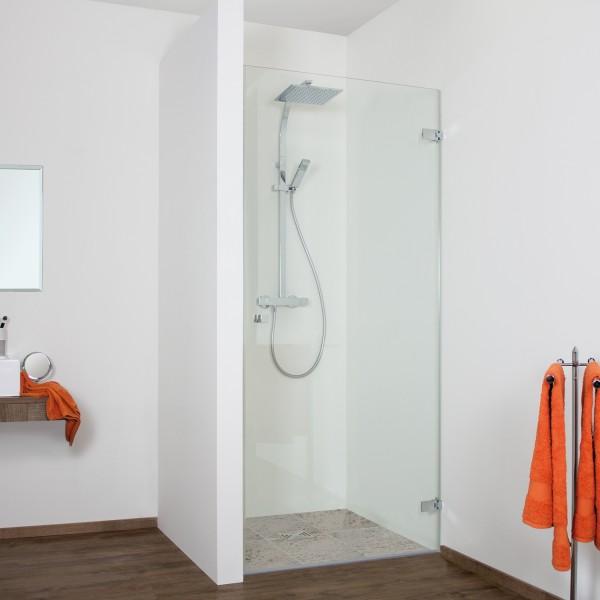 Duschkabine - Drehtür Nische, rahmenlos, Anschlag rechts