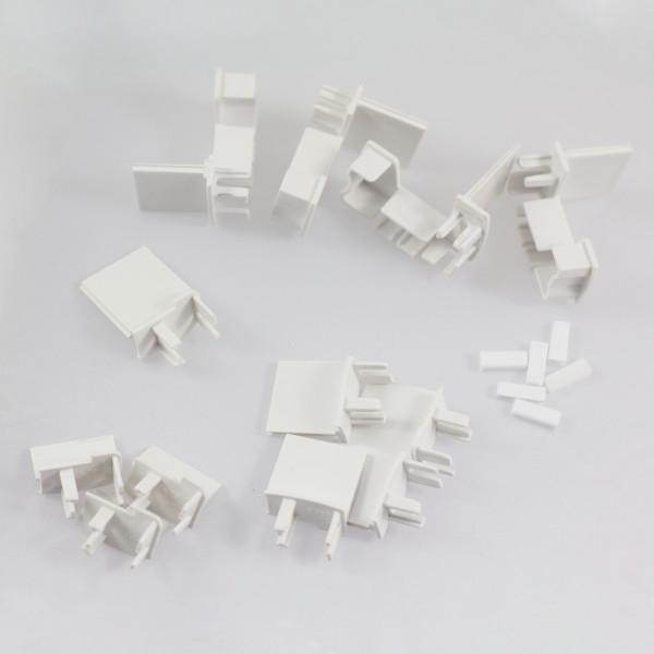 Abdeckkappen-Set weiß, für Schiebetür mit Seitenwand