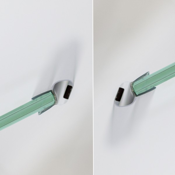 Magnetdichtungen 45°, Drehtür für Nische