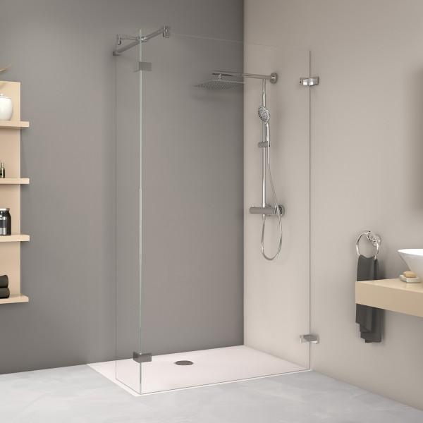 MK800 Duschwand mit Eckelement, Wandwinkel außen