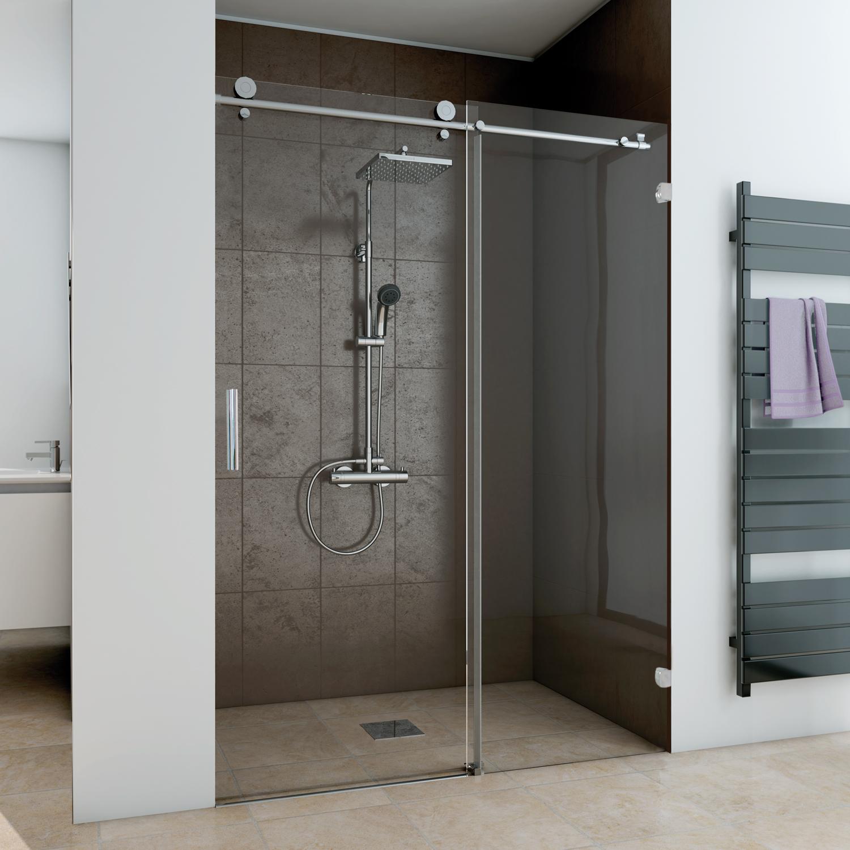 schiebet r 2 teilig f r nische anschlag rechts rahmenlos mk 850 duschkabinen produkte. Black Bedroom Furniture Sets. Home Design Ideas