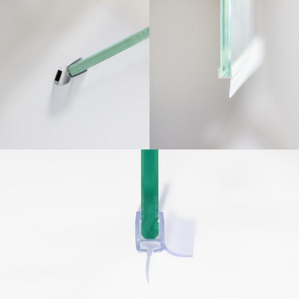 Dichtungsset für Duschabtrennungen, Drehfalttür Nische