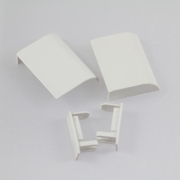 Abdeckkappen-Set weiß, für Seitenwand mit Schiebetür
