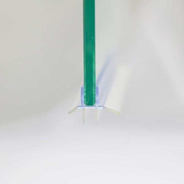 Wasserabweisdichtung, gebogen, waagerecht, für Runddusche