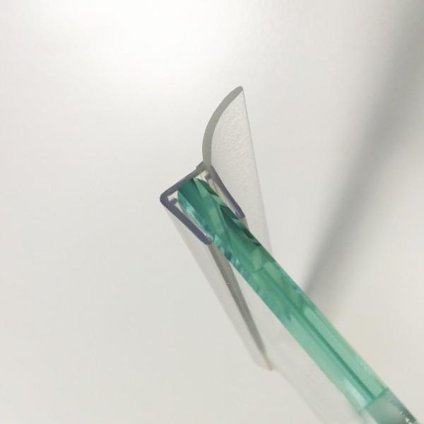 2 x Wanddichtprofil für 8 mm Glas, Länge 2200 mm