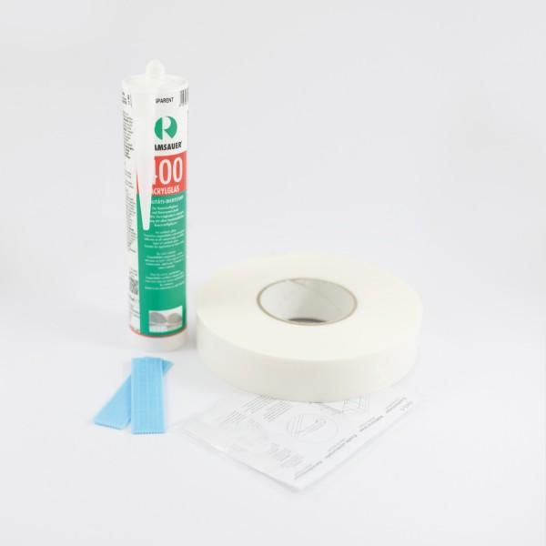Montagekit für Duschrückwände