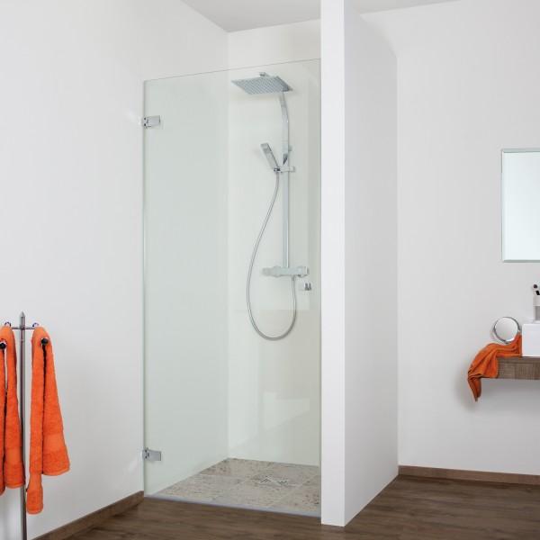 Duschkabine - Drehtür Nische, rahmenlos, Anschlag links