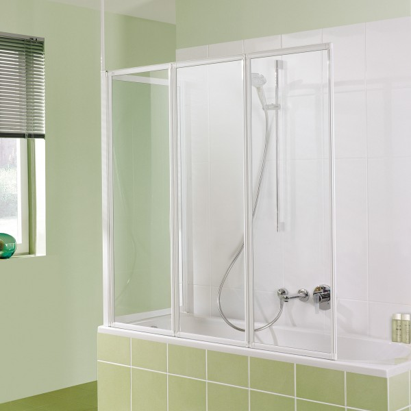 Badewannenaufsatz MK 400: Faltwand 3-teilig