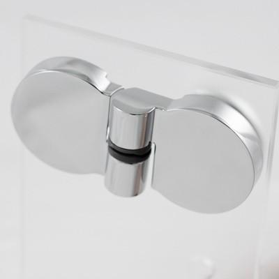 Scharnier Set komplett für Duschtür Anschlag rechts