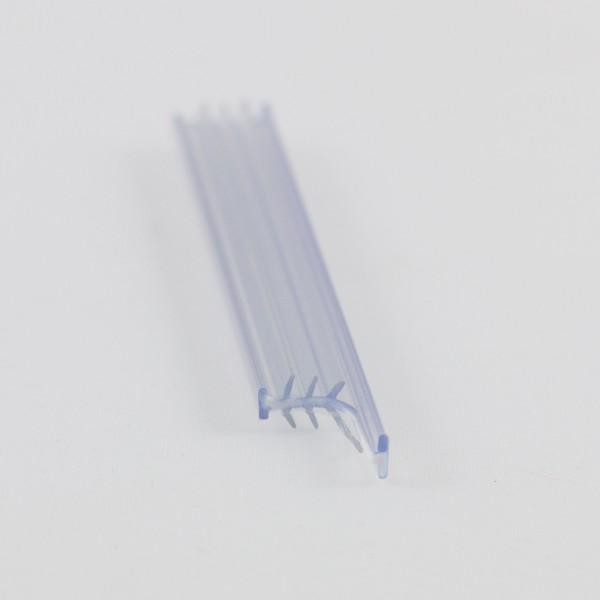 2 x Klemmleistenprofil, gerade, senkrecht