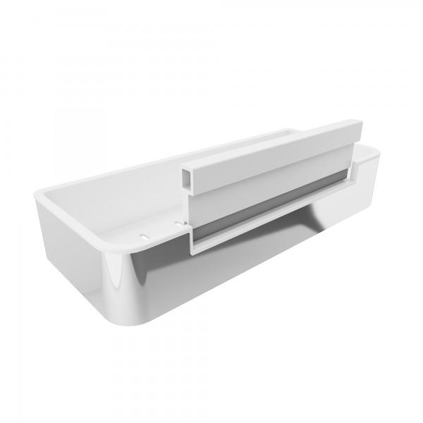 Duschkorb mit integriertem Glasabzieher Rechteck