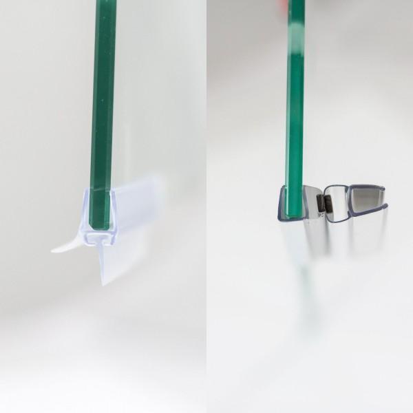 Dichtungsset für 6 mm, Drehtür & Seitenwand