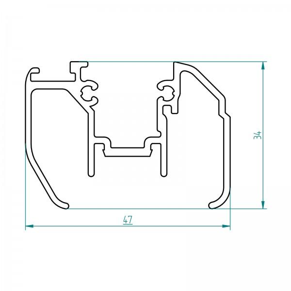 Türanschlagsprofil Set, für Duschabtrennungen