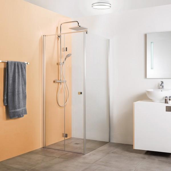 Drehfalttür für Seitenwand und Badewannenseitenwand, Anschlag links