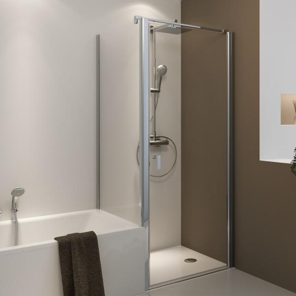 Badewannenseitenwand für Drehtür / Pendeltür / Drehtür horizontal geteilt