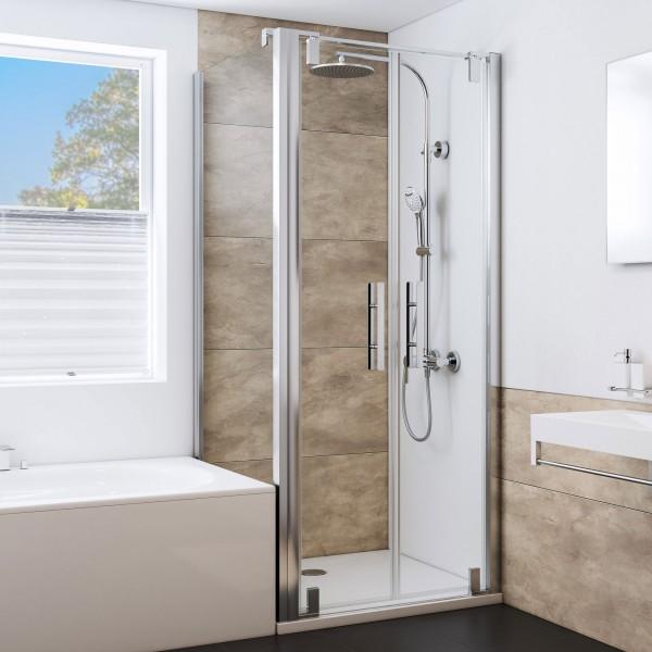 Duschkabine MK 580, Typ 5296: Badewannenseitenwand links für Pendeltür