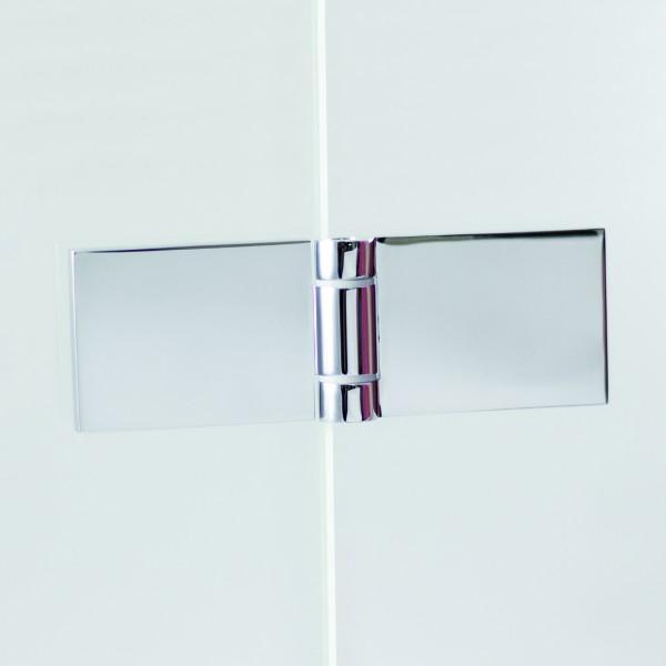 Scharnier Set komplett für Duschtüren
