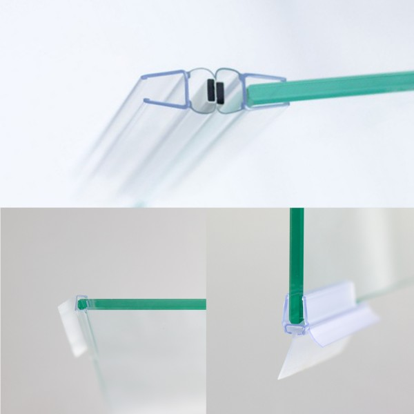 Dichtungssatz für 8 mm, Pendel- / Drehtür für Nische
