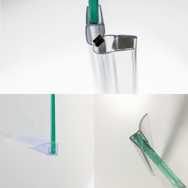 Dichtungsset für 8 mm Schiebetür in Nische