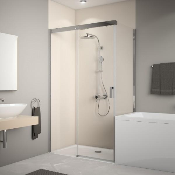 Badewannenseitenwand für Schiebetür und Schiebetür Soft & Silent