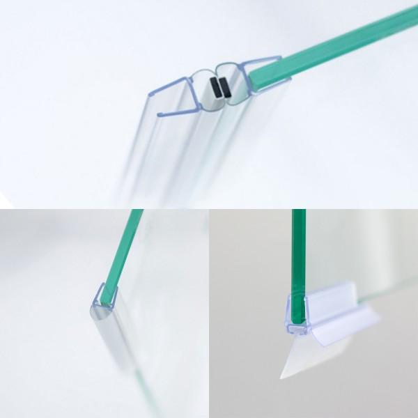 Dichtungssatz 8 mm, Drehtür mit Nebenteil